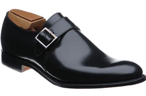 handmade fashion monk leather shoes black