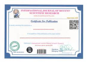 Welcome To Ijrsr International Journal Of Recent