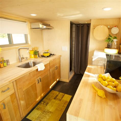tiny house nation schedule a bright tiny house kitchen with woods and
