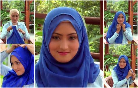 tutorial jilbab paris sehari hari aneka tutorial hijab segi empat simple praktis dan mudah