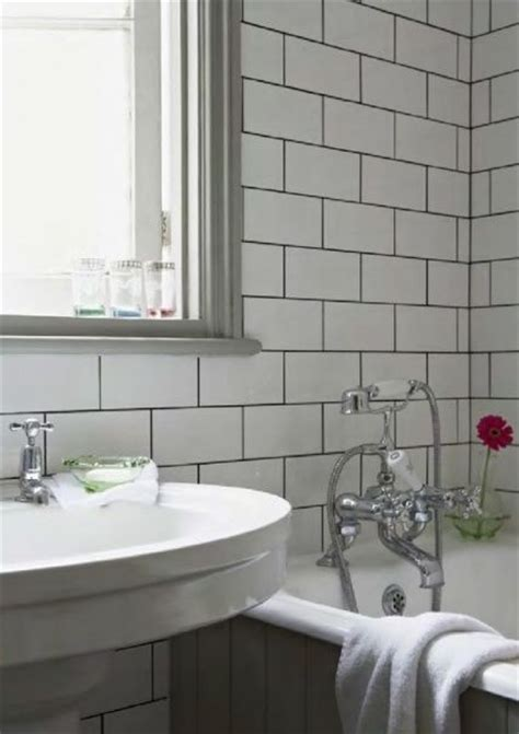 edwardian bathroom ideas 15 best white subway tile grey grout images on pinterest