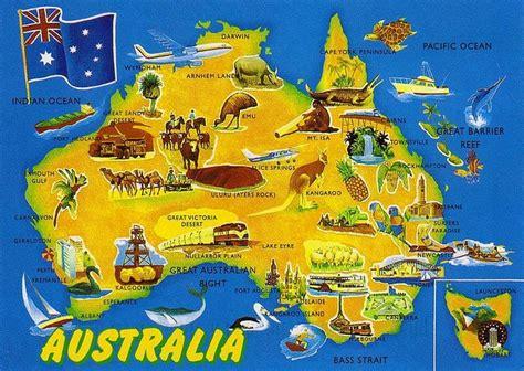 places of interest in map australia maps of australia australia