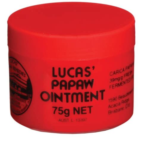 Lucas Papaw Ointment 25gr Original lucas papaw ointment 75g epharmacy