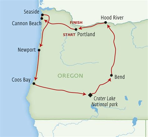 map of oregon day discover the oregon of dreamers 10 day self drive