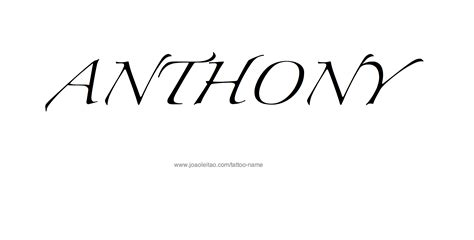 anthony tattoo designs anthony name designs