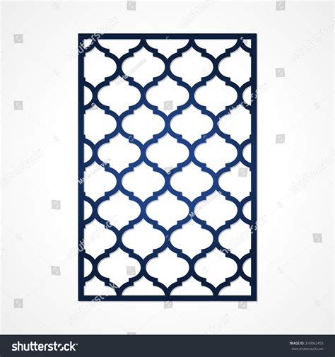 Cutout Paper Card Lazercut Card Template Stock Vector 310062455 Shutterstock Card Cut Out Template