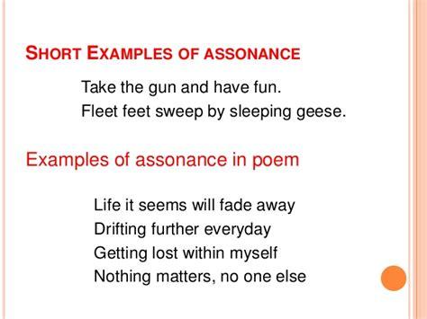 exle of assonance assonance exles alisen berde