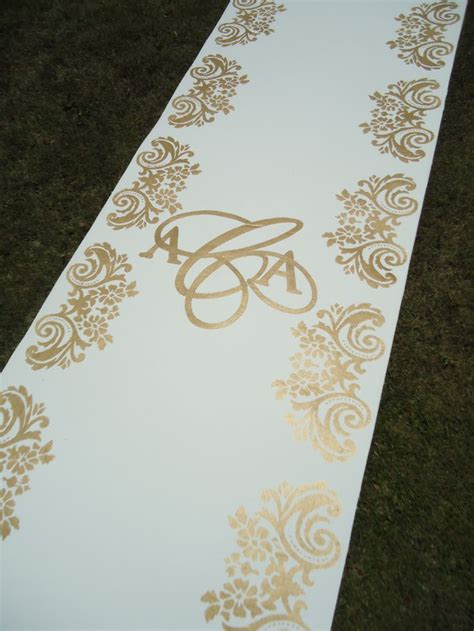 wedding ivory aisle runner 17 best images about painted aisle runners on