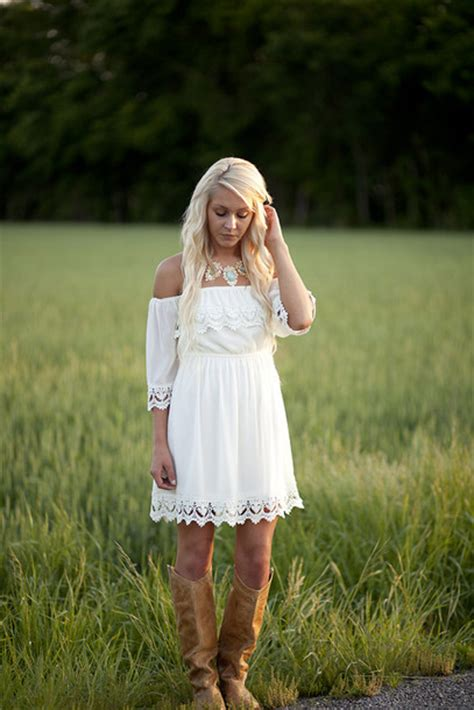 white country style dresses dress white lace southern trendy vintage the