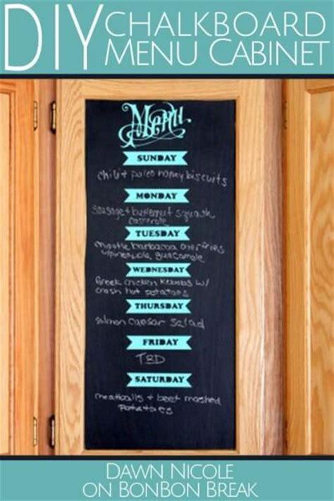diy chalkboard menu diy chalkboard menu cabinet
