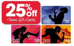 Itune Gift Card On Sale - target has 25 off itunes gift cards this long weekend gift cards on sale