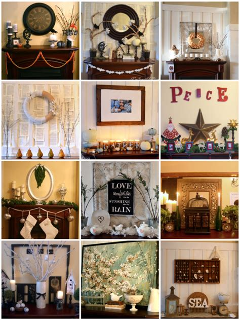 mantle decorating on pinterest mantels fall mantels and