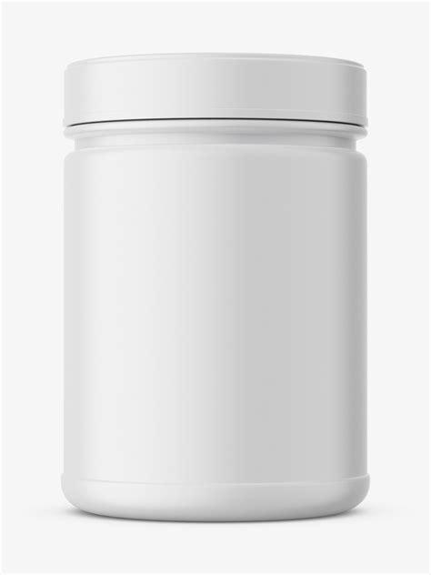 Supplement jar mockup / Matte - Smarty Mockups