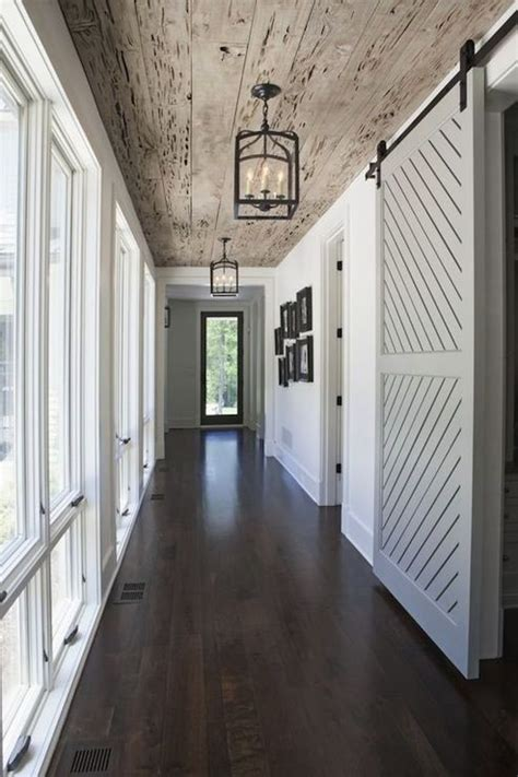 Barn Door Light Ooohh This Rustic Entrance Hallway Wood Plank