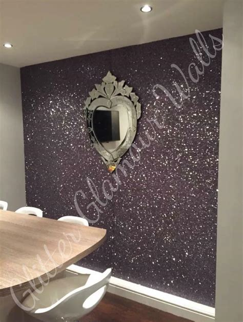 silver glitter wallpaper bedroom gallery