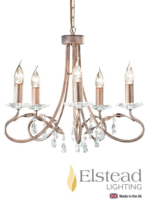 Simple Gold Chandelier Elstead Silver Gold 5 Light Ceiling