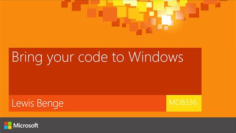 code section 336 bring your code to windows ignite australia channel 9