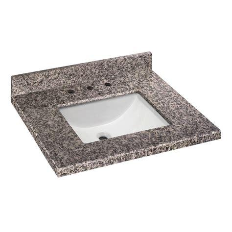 Pegasus Bathroom Vanity Tops Pegasus 31 In W X 22 In D Granite Vanity Top In Sircolo With White Single Trough Basin 31887