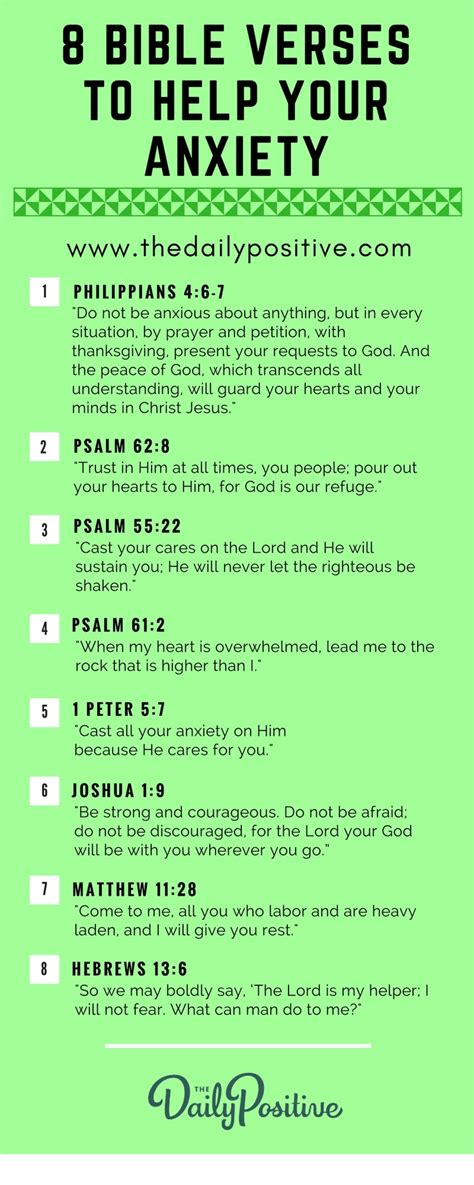 Comforting Words For Anxiety by 8 Bible Verses To Help Your Anxiety The Daily Positive