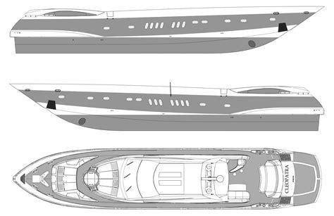 speed boat blueprint motor boat cleopatra blueprint download free blueprint