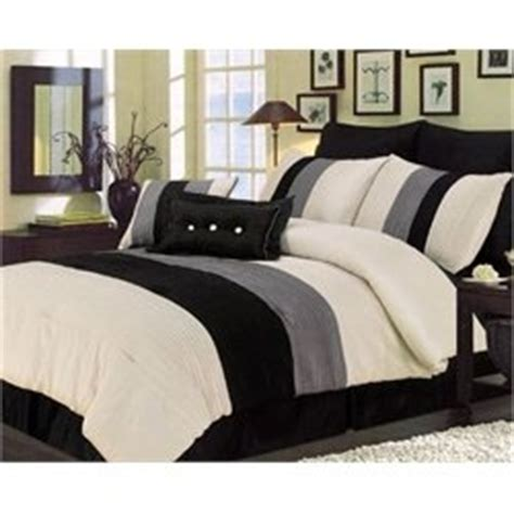 cream and black bedding essence faux silk black cream gray 7 piece comforter set