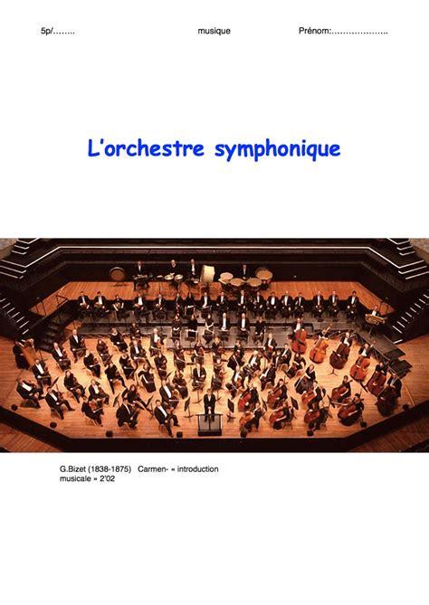 les instruments de l orchestre symphonique bdrp