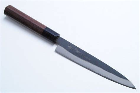 yoshihiro petty japanese kitchen knife 140mm yoshihiro japanese kuro uchi blue steel chef knife