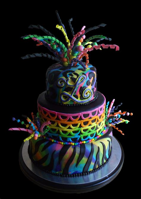 Rainbow Explosion  Ee  Birthday Ee   Cake Cakecentral M