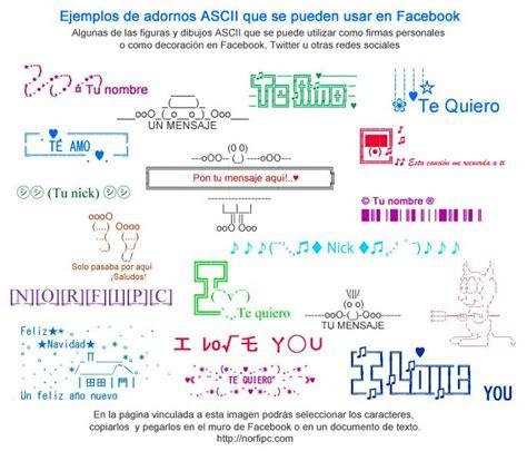 ejemplos de firmas ejemplos de adornos ascii que se pueden usar en facebook