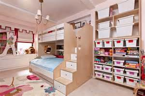 Furniture set for girls with bunk bed with trundle kids bed rooms