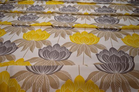 roma upholstery fabric roma yellow floral curtain fabric cotton