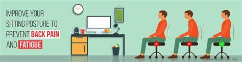 posture to avoid backache