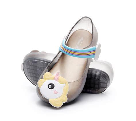 Sandal Bulu Rainbow Fur Unicorn 2018 new mini jelly sandals rainbow unicorn fish shoes lovely soft princess shoes unicorns