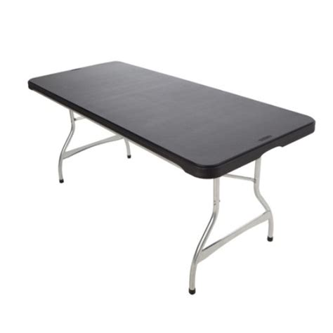 Lifetime 6 Foot Folding Table by Lifetime Folding Tables 880350 Black Stacking 6 Foot 26 Pack