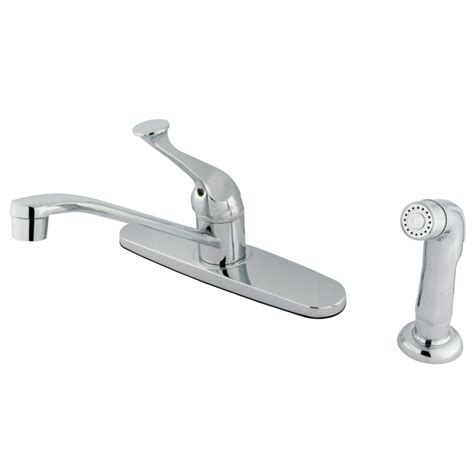 kingston kitchen faucets kingston brass kb572sp single lever handle 8 quot kitchen