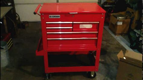 Five Drawer Tool Cart by Harbor Freight 5 Drawer Tool Cart Reveiw And Walk Around
