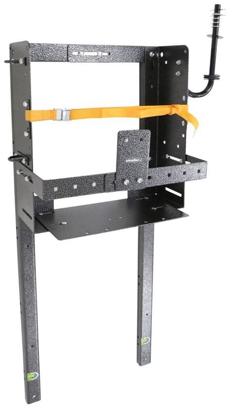 rack em storage rack for open air trailers adjustable