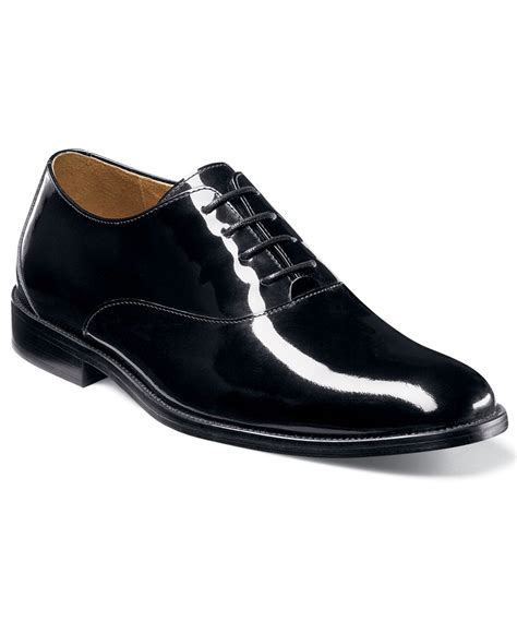 Patent Leather by Florsheim Kingston Patent Leather Plain Toe Oxfords In