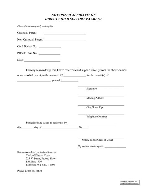child support agreement template free 20 images 6 free doctors
