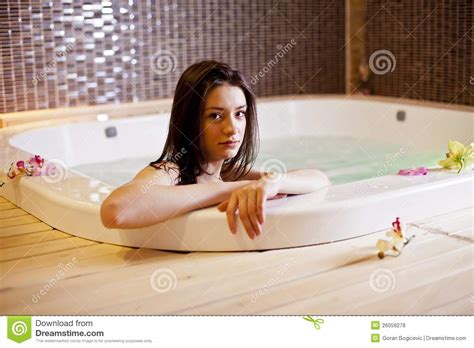 hot girl in bathtub girl in hot tub royalty free stock photos image 26059278