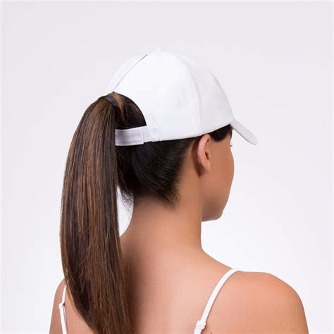 womans topper worn in ponytail spony ponytail baseball cap wear it 2 ways touch of pink