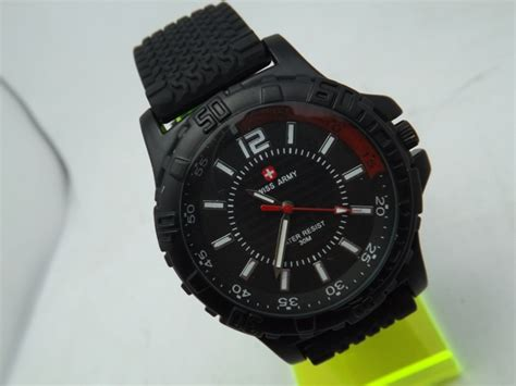 Jam Tangan Swiss Army Original Vs Kw jam tangan swiss army rubber hc 5028 jam tangan swiss
