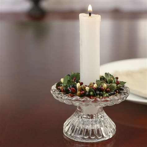 Burgundy, Black, and Cream Pip Berry Candle Ring   Candles