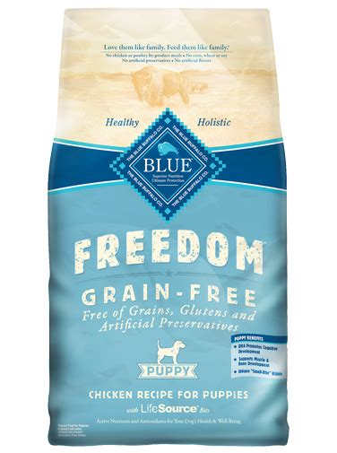 blue buffalo freedom puppy blue freedom 174 puppy food grain free chicken recipe