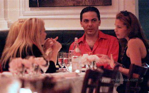 veronica castro y su novia cristian castro cenando con veronica castro y su novia