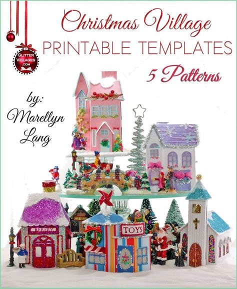 printable paper village 103 best christmas putz houses images on pinterest