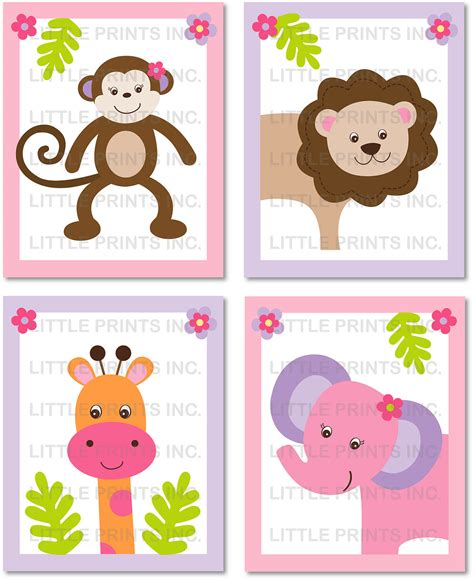 free printable animal wall art 9 best images of free printable animal nursery art