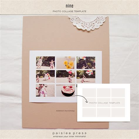 digital photo collage template digital scrapbooking templates templates the lilypad