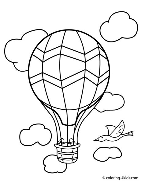 balloons coloring pages preschool balloon transportation coloring pages aerostat for kids