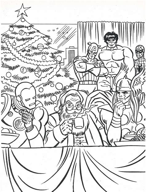 marvel christmas coloring pages the marvel super heroes christmas coloring book page flickr